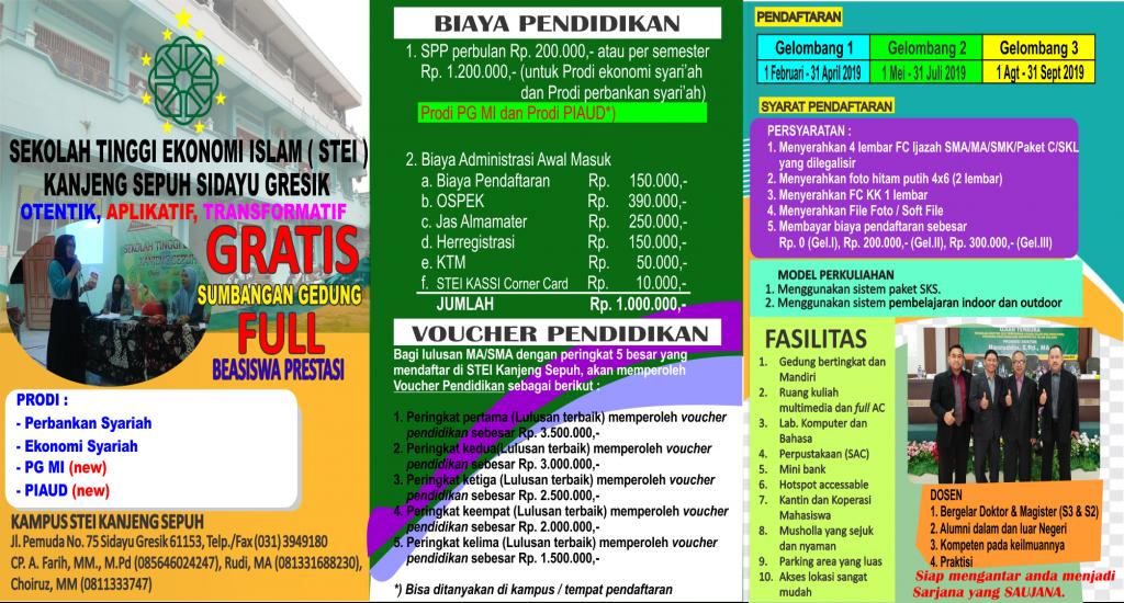 Pendaftaran Mahasiswa Baru Tahun 2019/2020